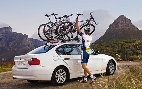 Roof Rack Mounted Bike Carriers. Thule Proride Bike Carrier