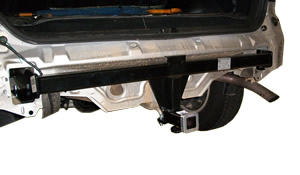 Mazda tribute towbar being fitted