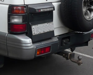 Tow bar fitted to Mitsubishi Pajero