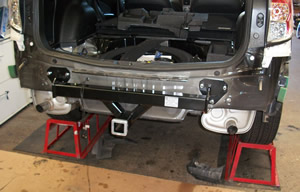 Fitting towbar to Subaru Forester
