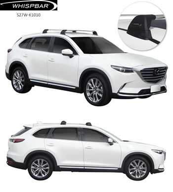 Prorack roof racks fitted to Mazda CX9